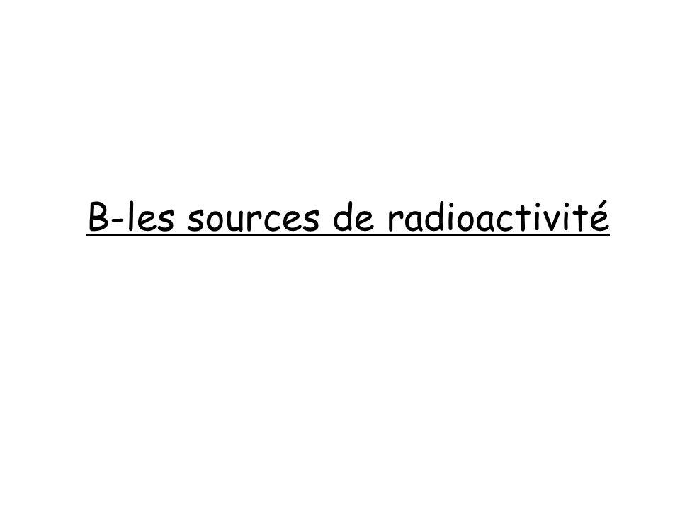 B-les sources de radioactivité
