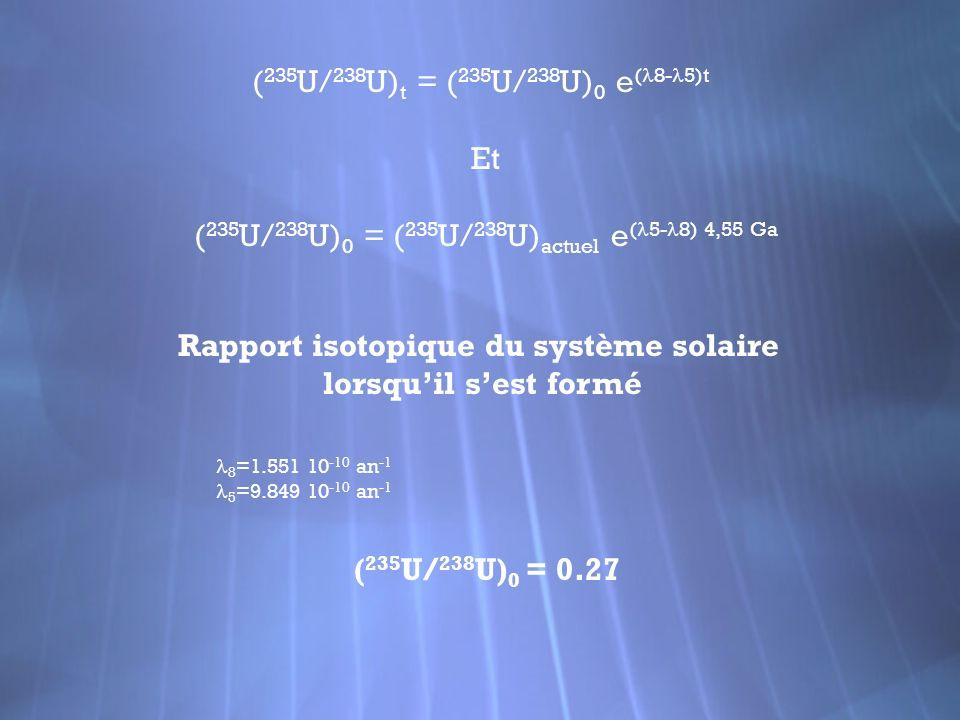 Rapport isotopique du système solaire