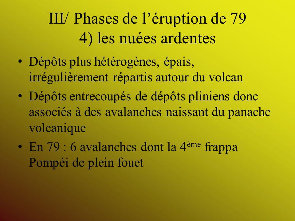 III/ Phases de l'éruption de 79 4) les nuées ardentes