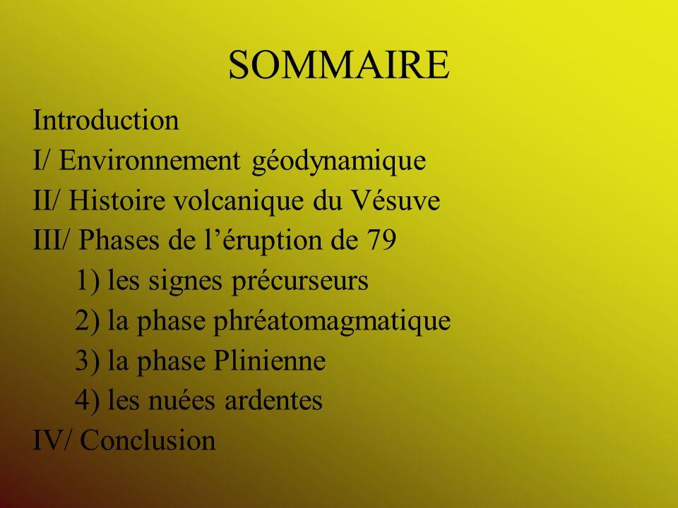 SOMMAIRE Introduction I/ Environnement géodynamique