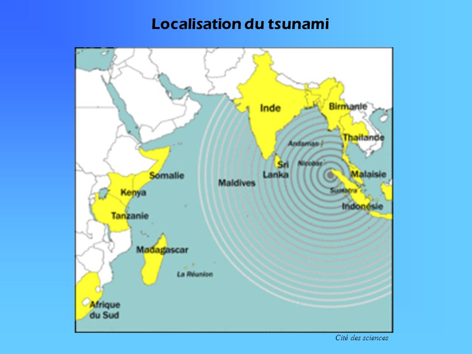 Localisation du tsunami