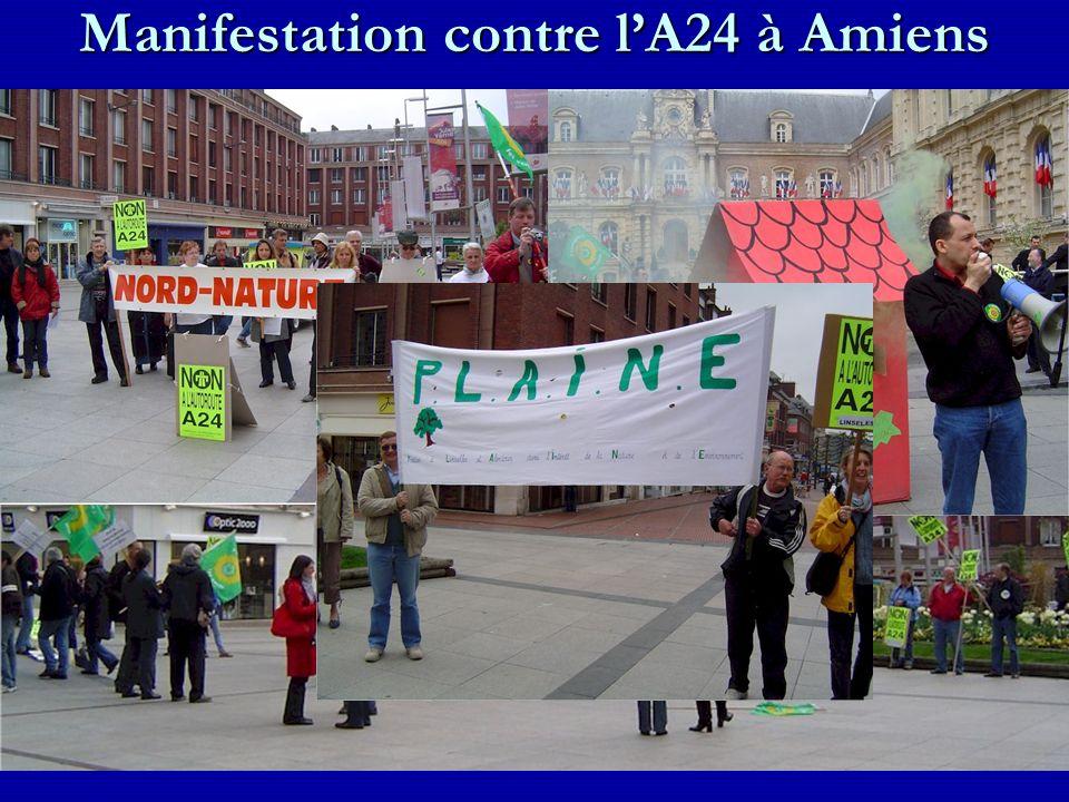 Manifestation contre l'A24 à Amiens