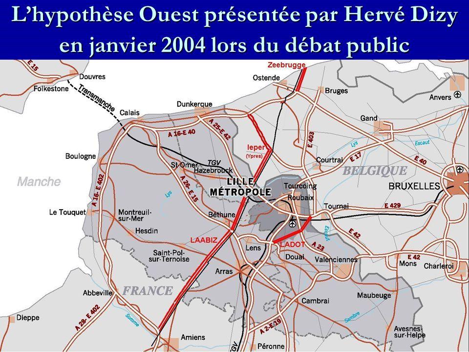 L'hypothèse Ouest présentée par Hervé Dizy en janvier 2004 lors du débat public