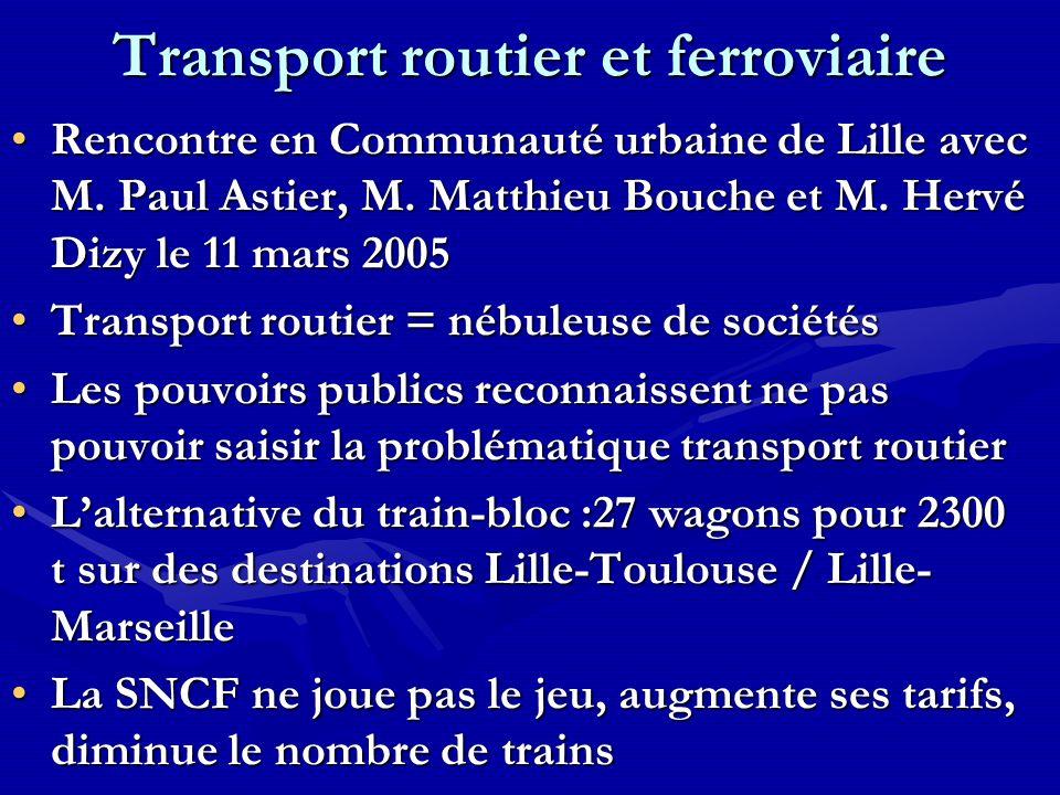 Transport routier et ferroviaire