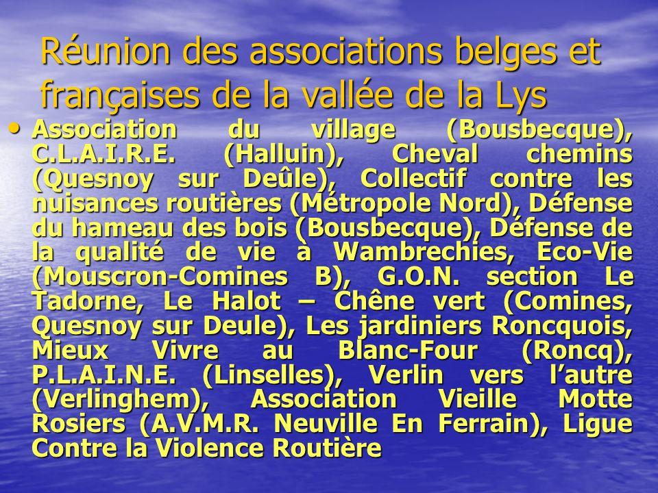 Réunion des associations belges et françaises de la vallée de la Lys