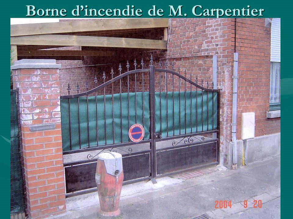 Borne d'incendie de M. Carpentier