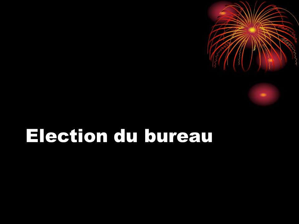 Election du bureau