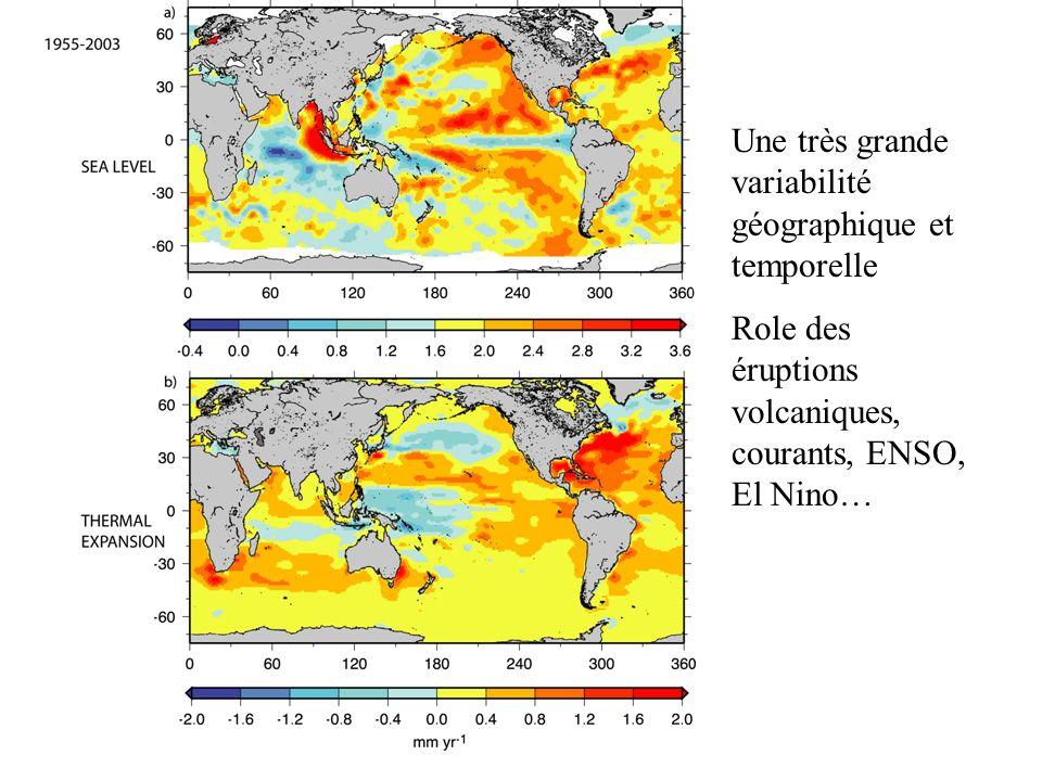 Une très grande variabilité géographique et temporelle
