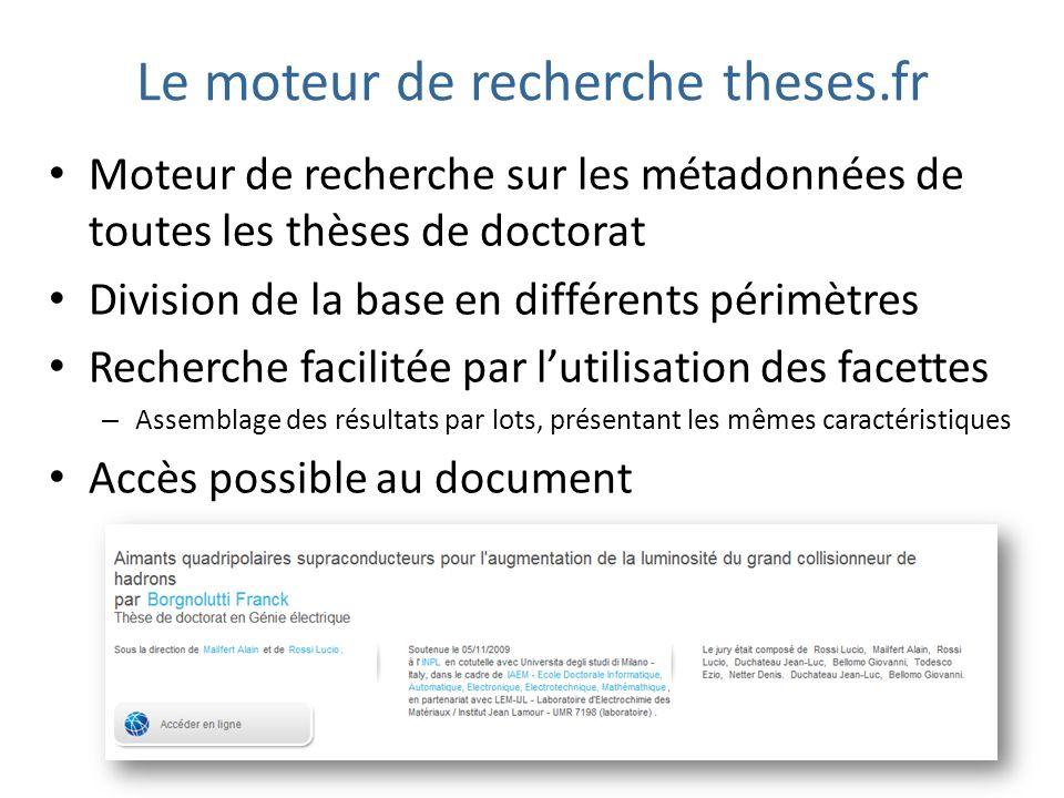 Le moteur de recherche theses.fr