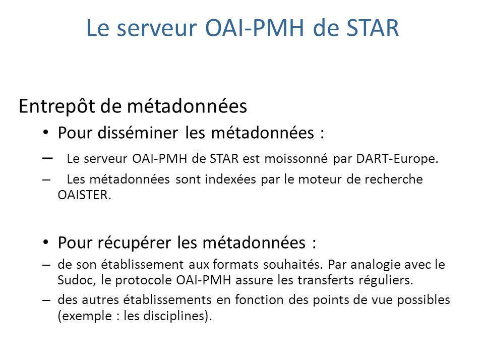 Le serveur OAI-PMH de STAR