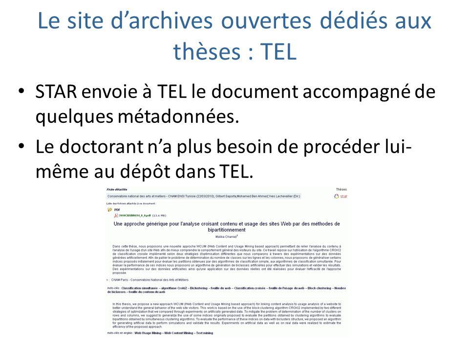 Le site d'archives ouvertes dédiés aux thèses : TEL