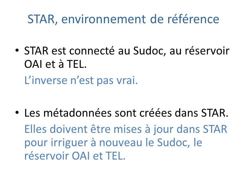 STAR, environnement de référence