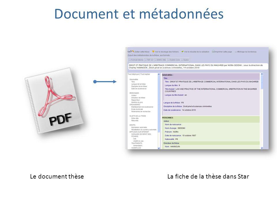 Document et métadonnées