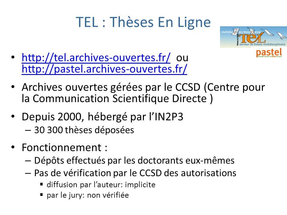 TEL : Thèses En Lignehttp://tel.archives-ouvertes.fr/ ou http://pastel.archives-ouvertes.fr/