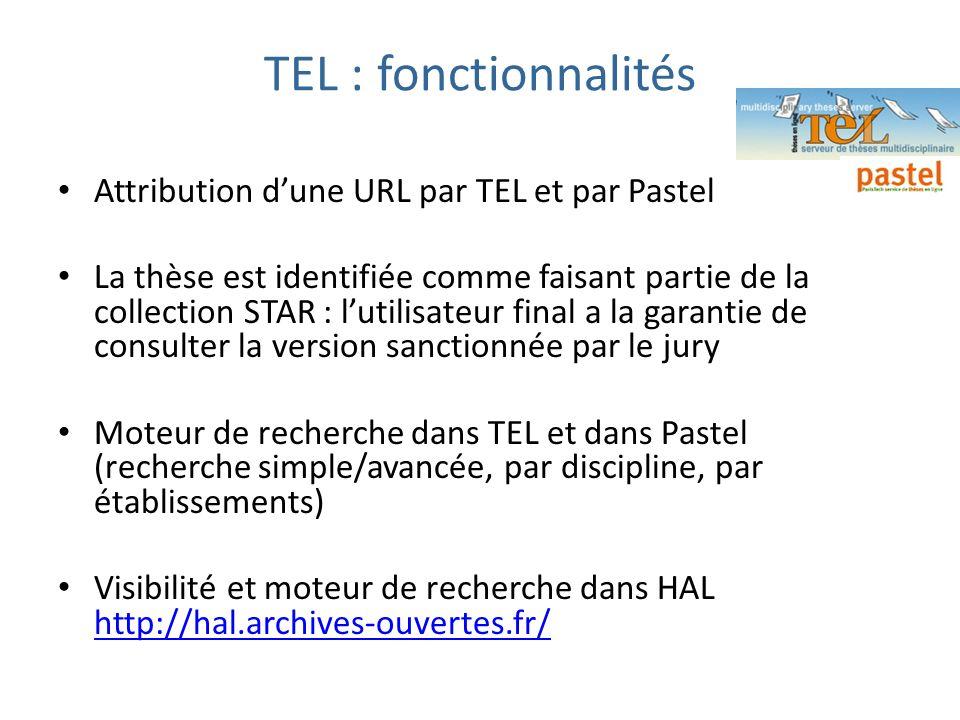 TEL : fonctionnalités Attribution d'une URL par TEL et par Pastel