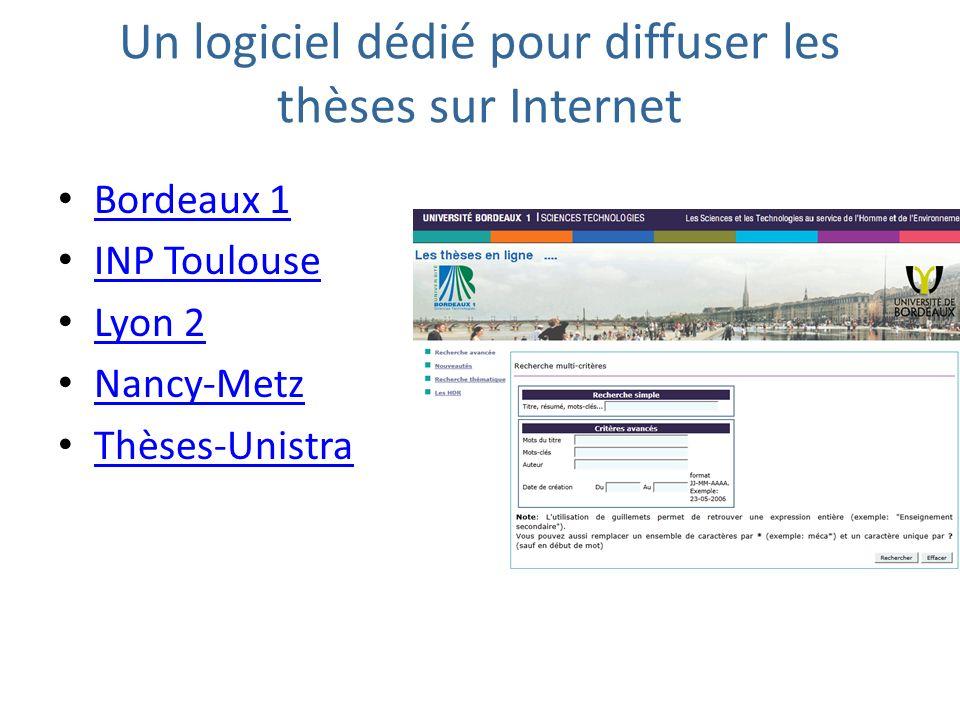 Un logiciel dédié pour diffuser les thèses sur Internet
