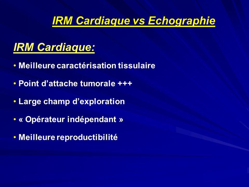 IRM Cardiaque: IRM Cardiaque vs Echographie