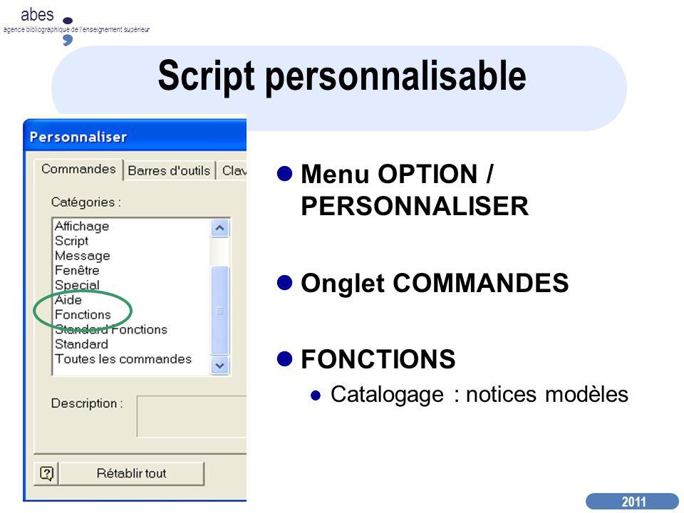 Script personnalisable