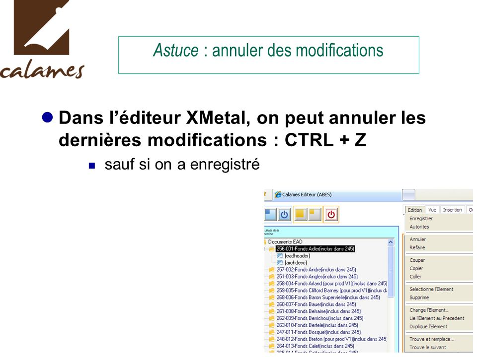 Astuce : annuler des modifications