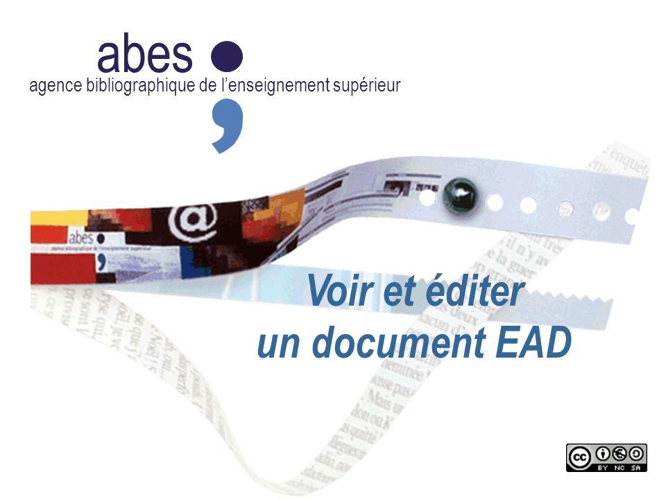 abes Voir et éditer un document EAD