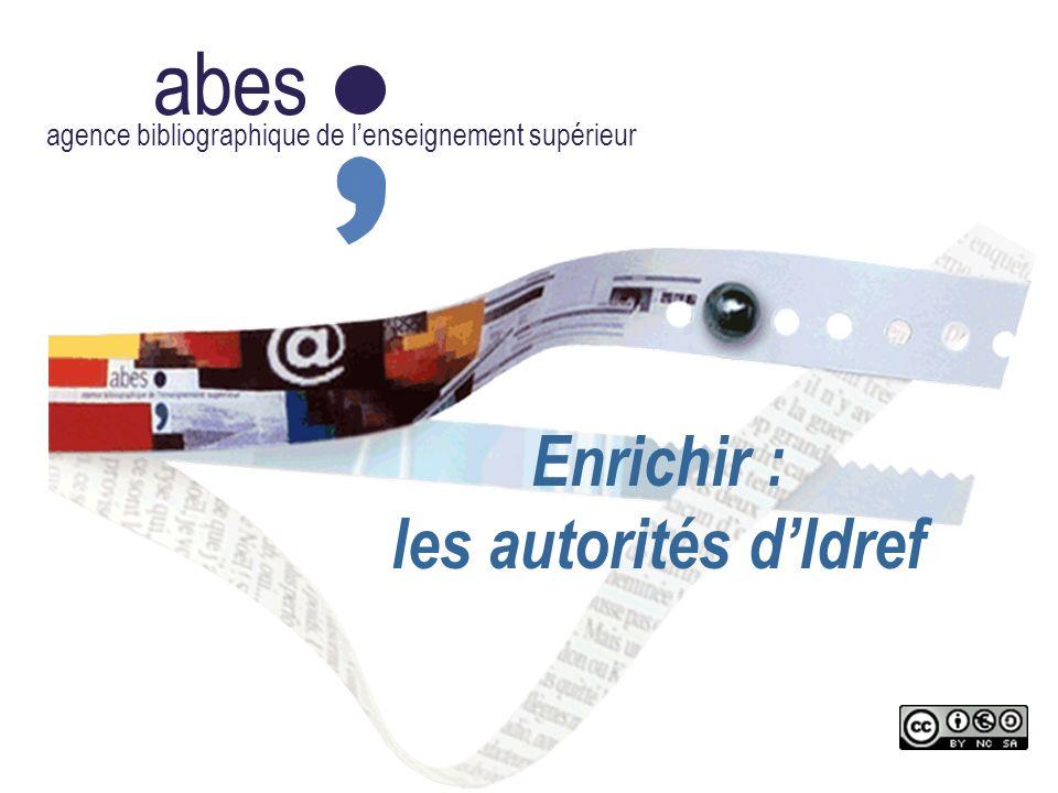 abes Enrichir : les autorités d'Idref