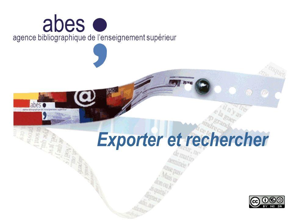 Exporter et rechercher