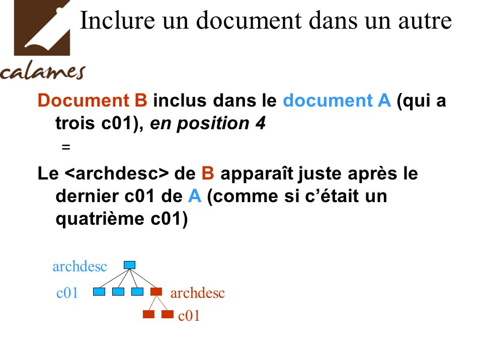 Inclure un document dans un autre