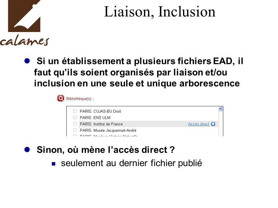 Liaison, Inclusion