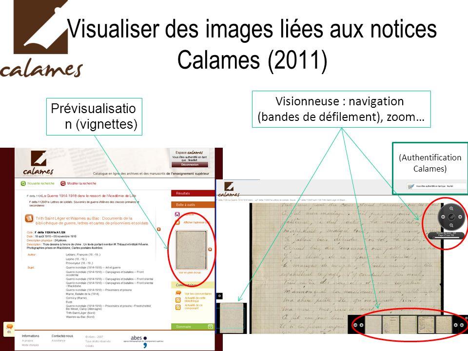 Visualiser des images liées aux notices Calames (2011)