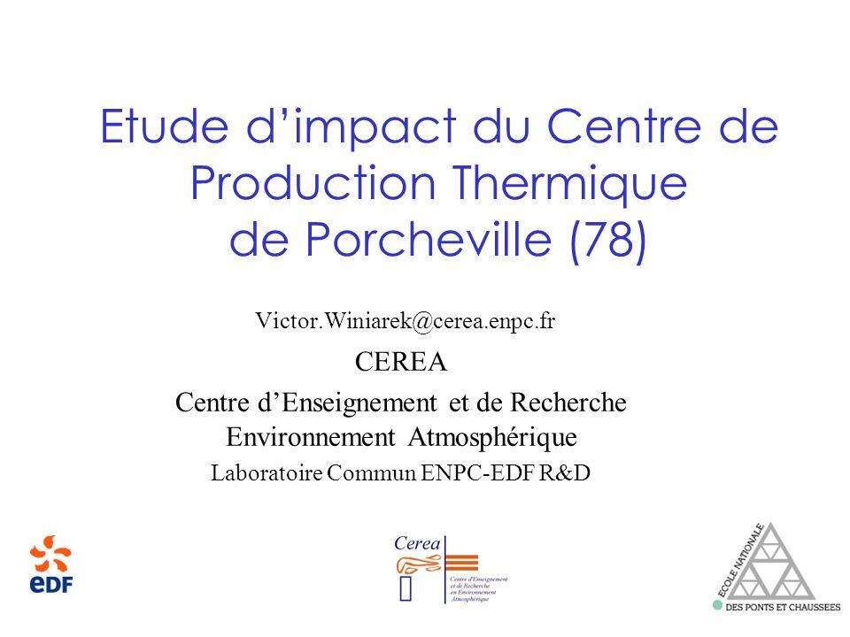 Etude d'impact du Centre de Production Thermique de Porcheville (78)