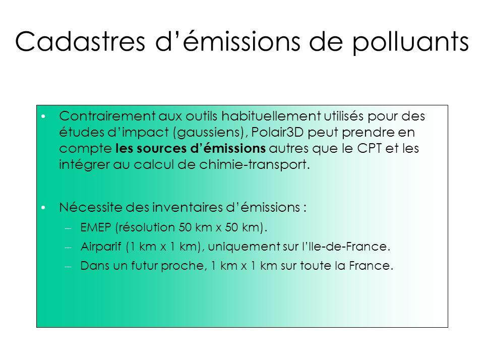 Cadastres d'émissions de polluants