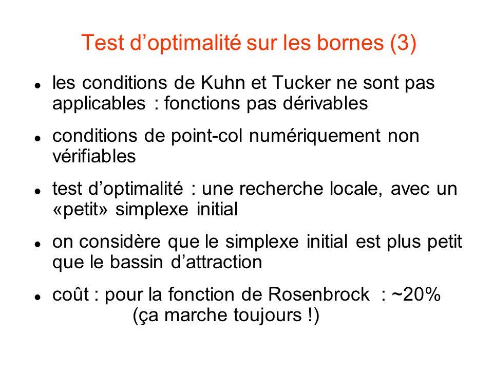 Test d'optimalité sur les bornes (3)