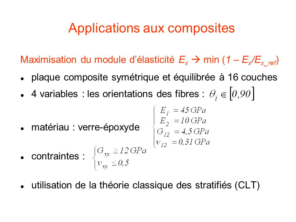 Applications aux composites