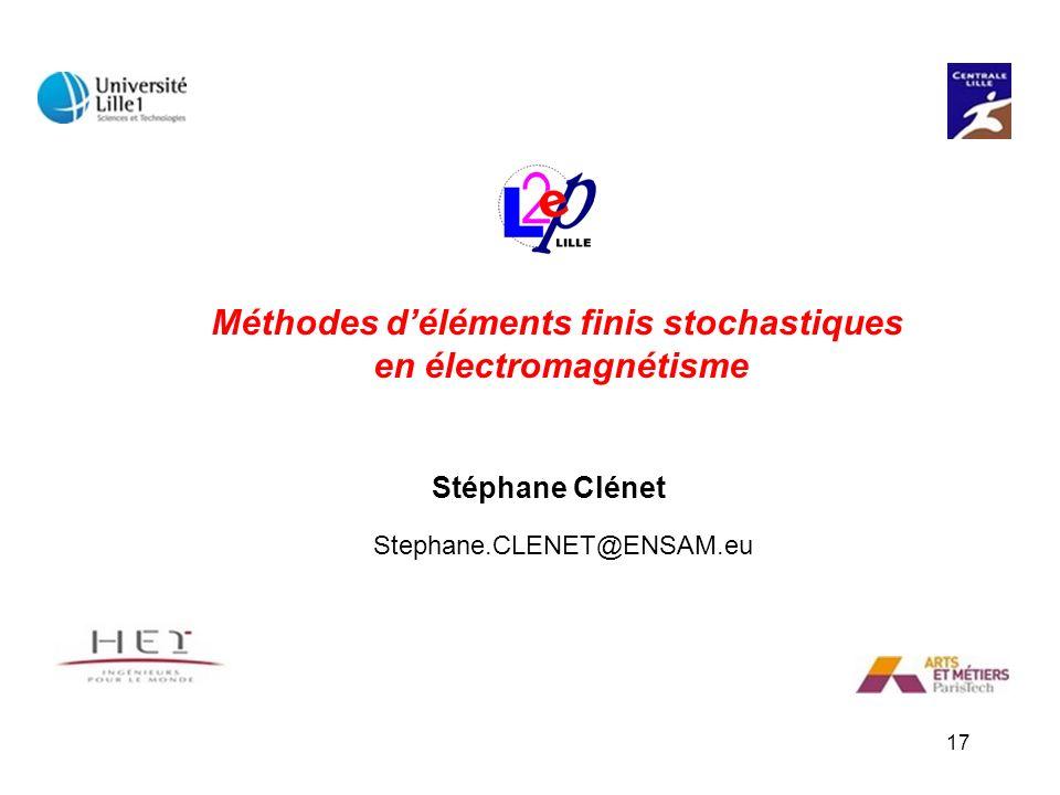 Méthodes d'éléments finis stochastiques