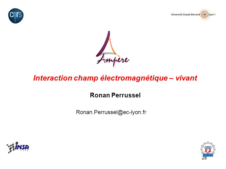 Interaction champ électromagnétique – vivant