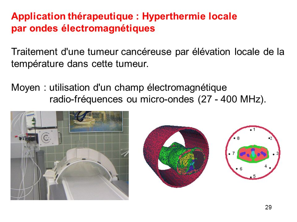 Application thérapeutique : Hyperthermie locale