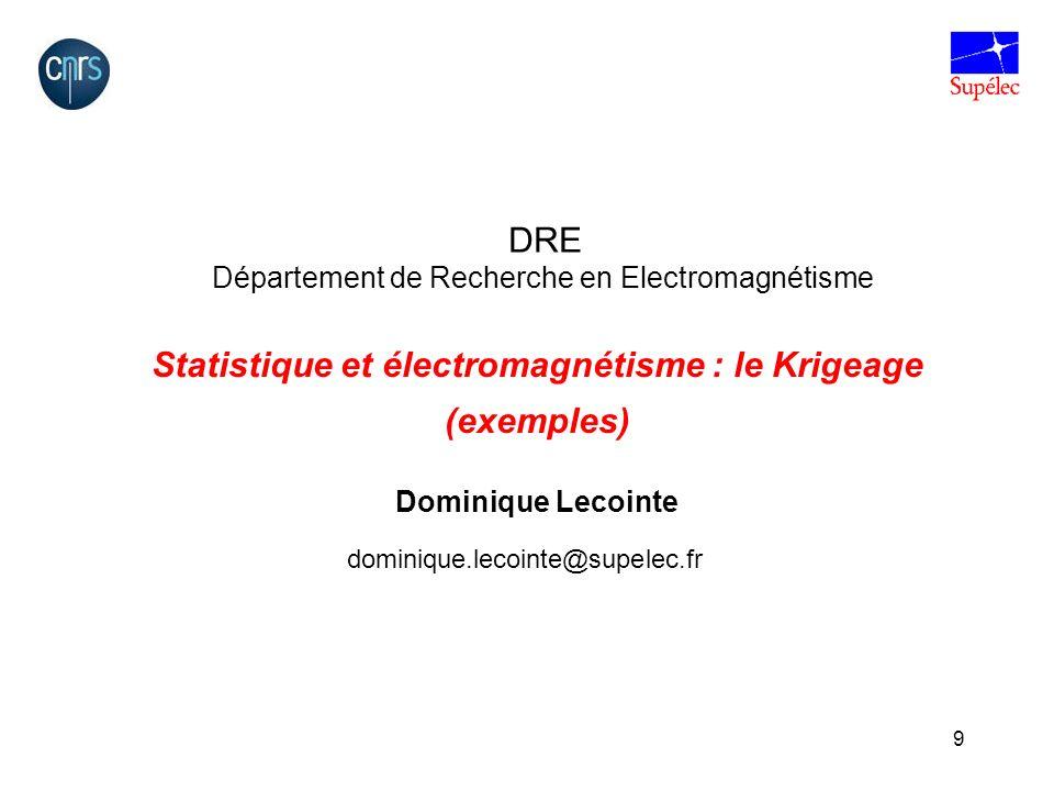 Statistique et électromagnétisme : le Krigeage