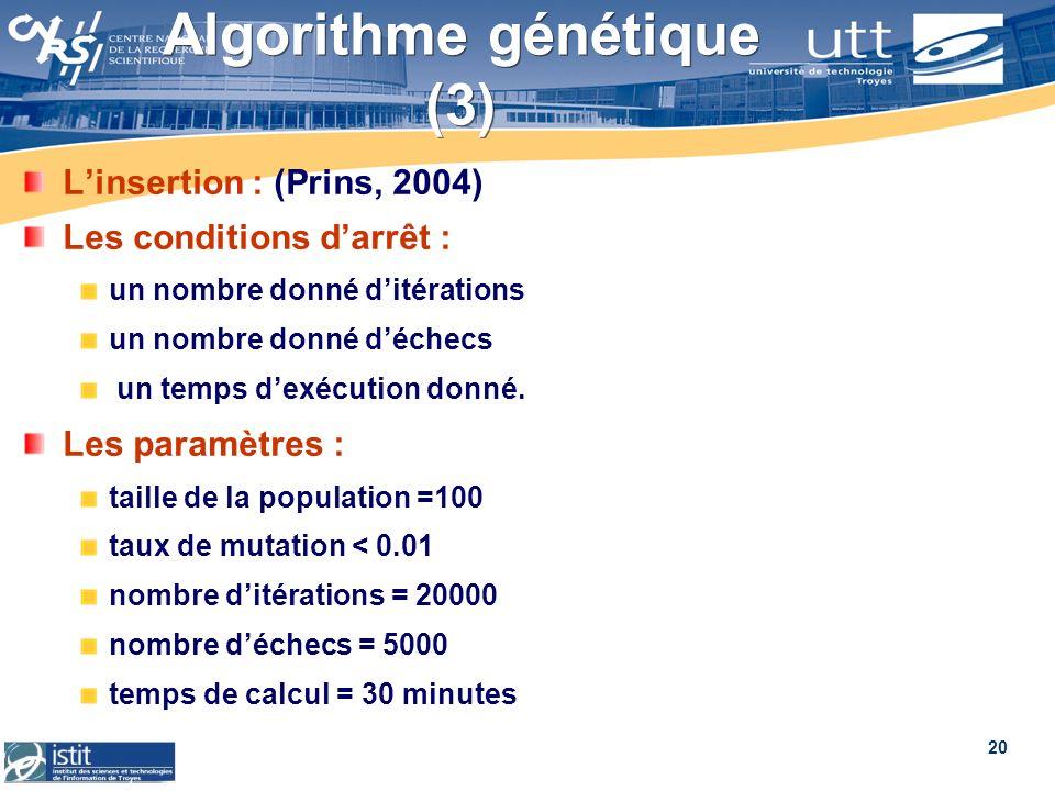 Algorithme génétique (3)