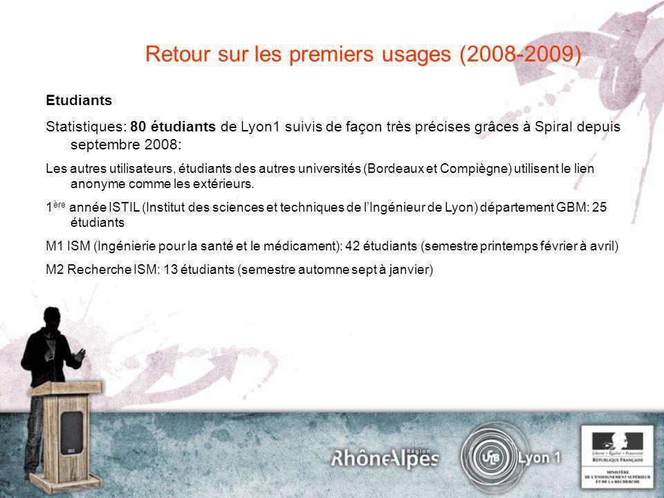 Retour sur les premiers usages (2008-2009)