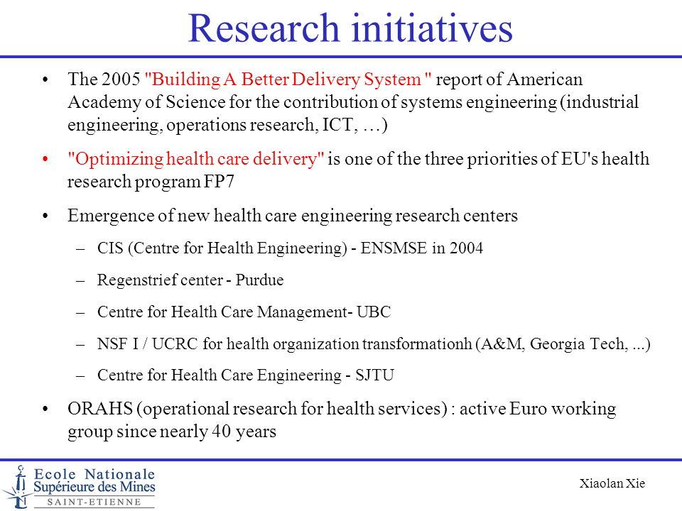 Research initiatives