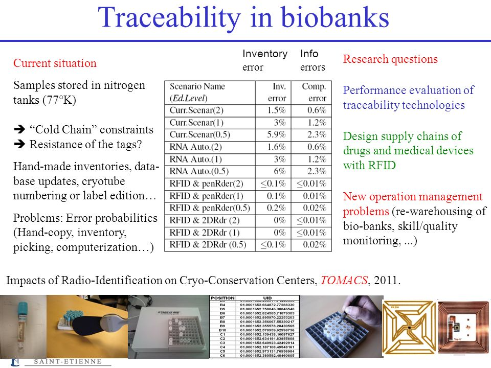 Traceability in biobanks