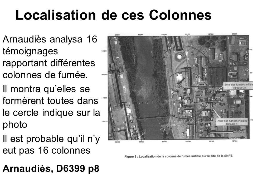 Localisation de ces Colonnes