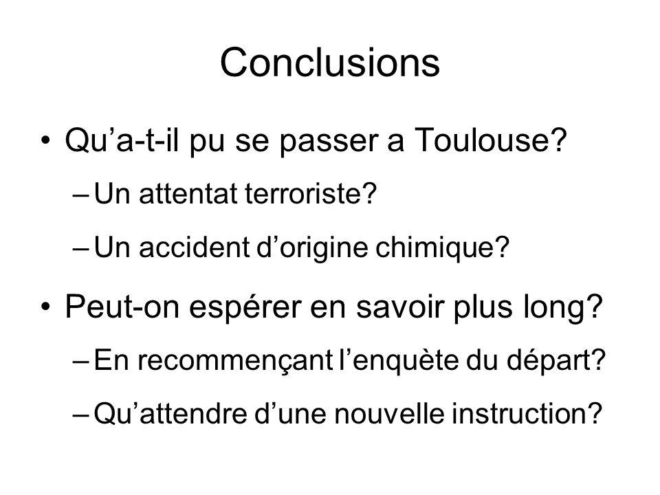 Conclusions Qu'a-t-il pu se passer a Toulouse