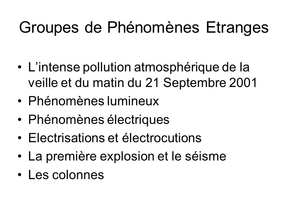 Groupes de Phénomènes Etranges