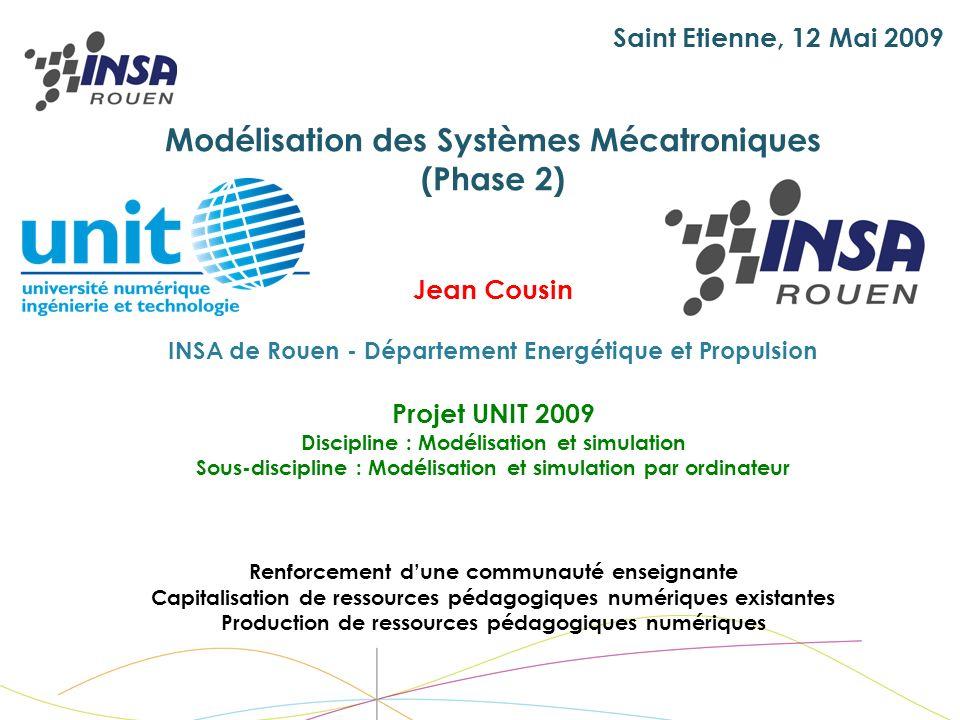 Modélisation des Systèmes Mécatroniques (Phase 2)