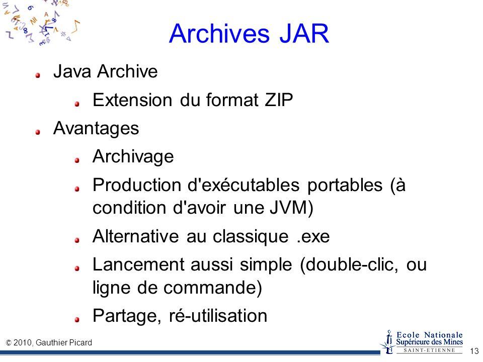 Archives JAR Java Archive Extension du format ZIP Avantages Archivage