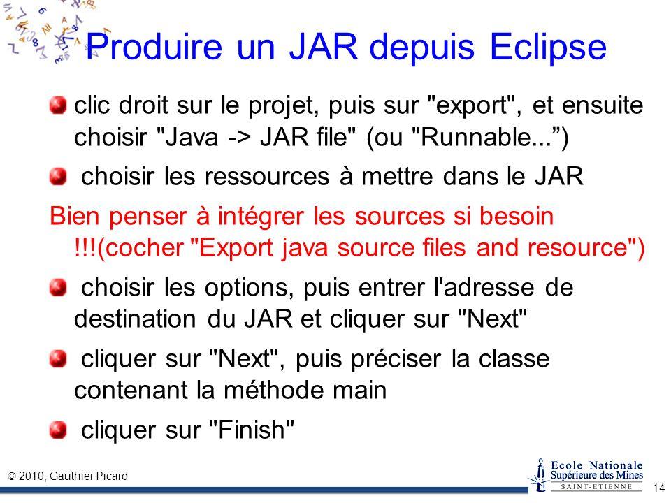Produire un JAR depuis Eclipse