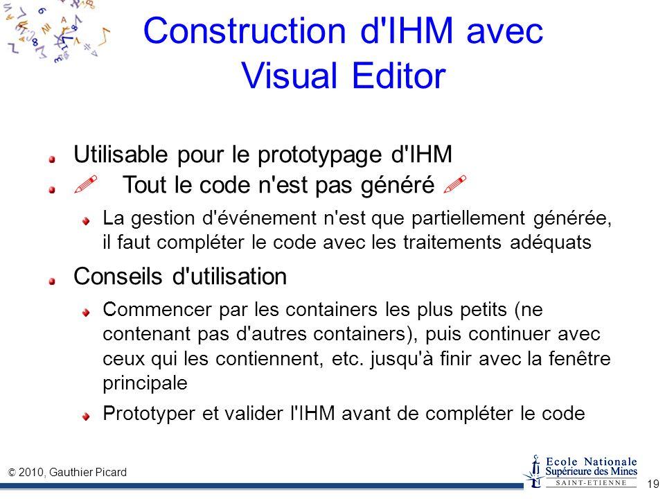 Construction d IHM avec Visual Editor