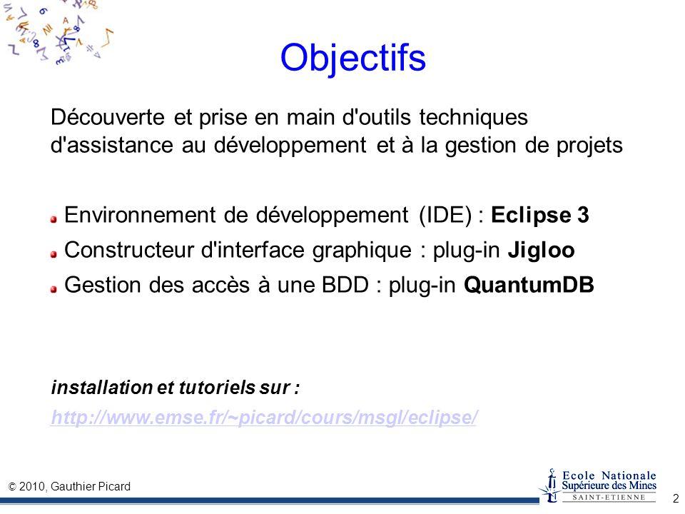 ObjectifsDécouverte et prise en main d outils techniques d assistance au développement et à la gestion de projets.