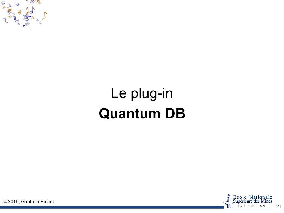 Le plug-in Quantum DB